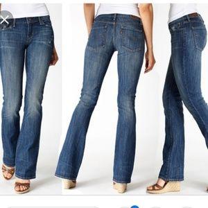 Levi's demi curve mid rise boot cut jean